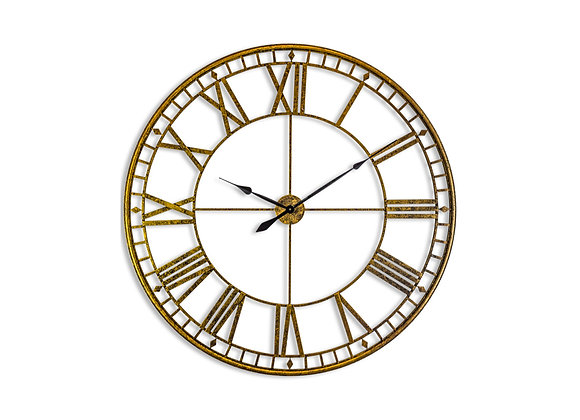 Extra Large Industrial Metal Antiqued Wall Clock