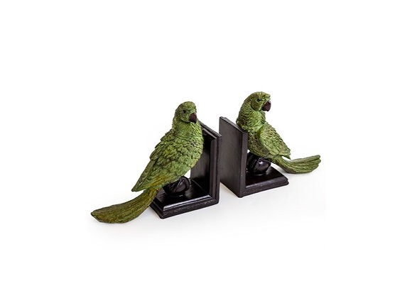 Quirky Parrot Bookends