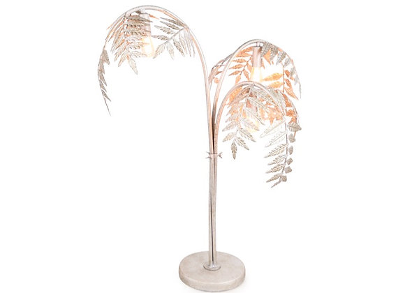 Silver Palm Tree Table Lamp