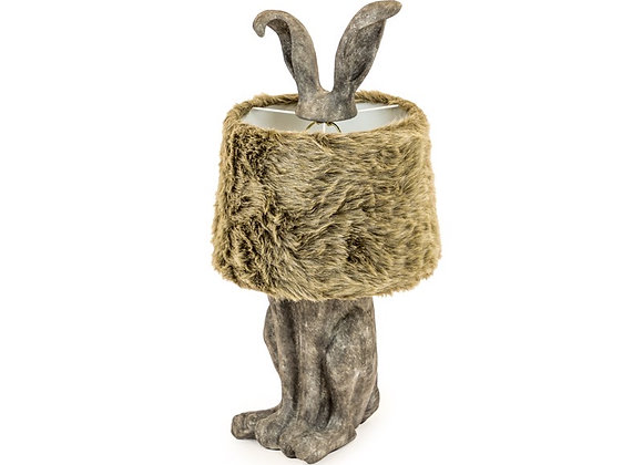 Funky Rabbit Lamp With Faux Fur Shade