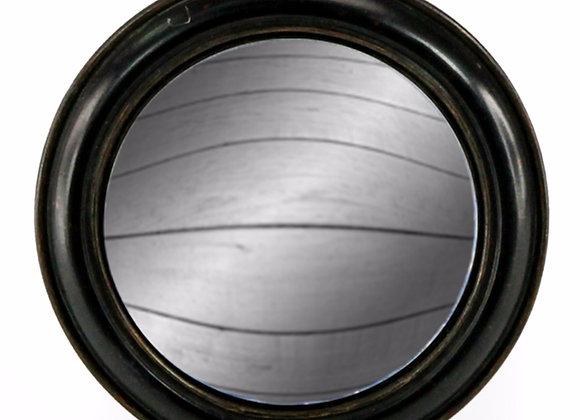 Black Framed Round Convex Mirror