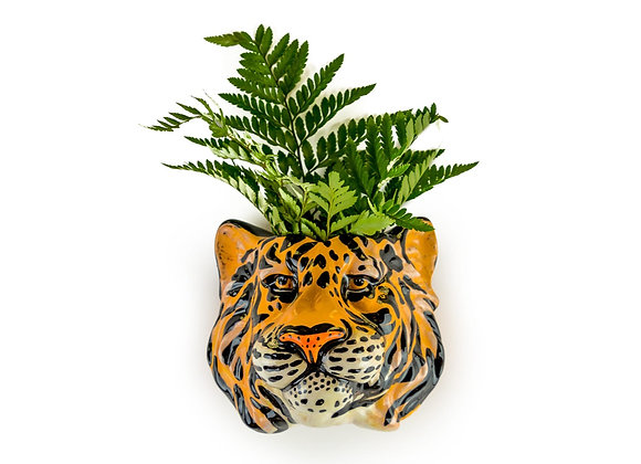 Funky Ceramic Tiger Head Vase