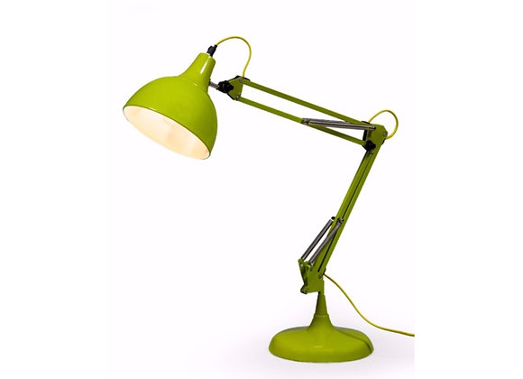Traditional Angle Poise Desk Lamp (Lime Green)