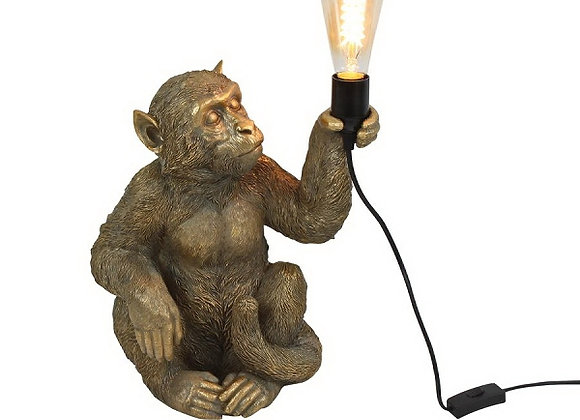 Quirky Gold Sitting Monkey Table Lamp