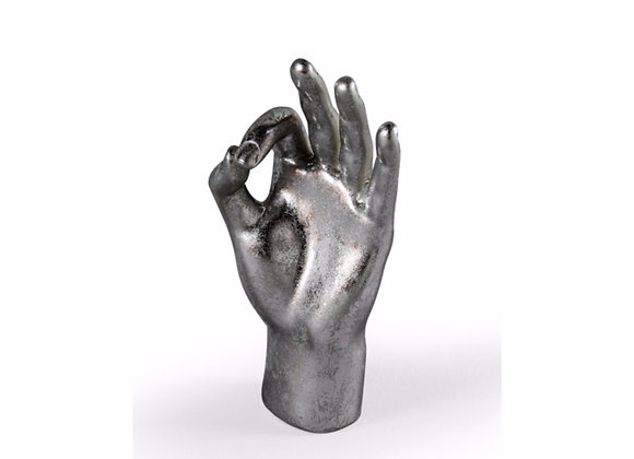 Quirky Sliver 'OK' Hand