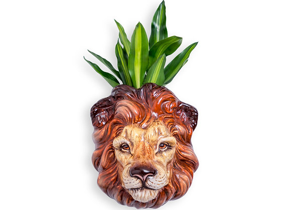 Quirky Ceramic Lion Head Wall Vase