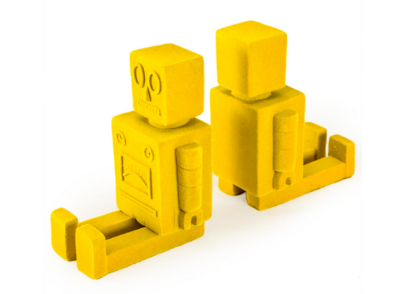Quirky Flock Yellow Robot Bookends (Pair)
