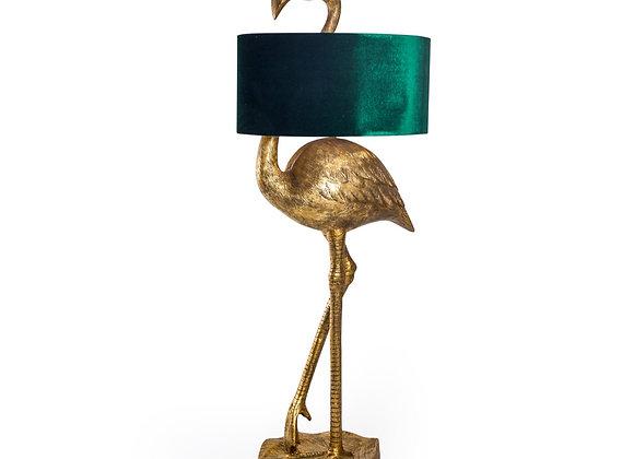 Stunning Flamingo Floor Lamp With Velvet Shade
