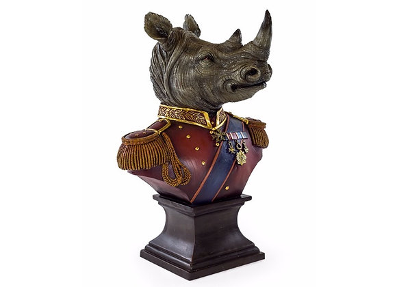 Quirky Large Regal Rhino Bust