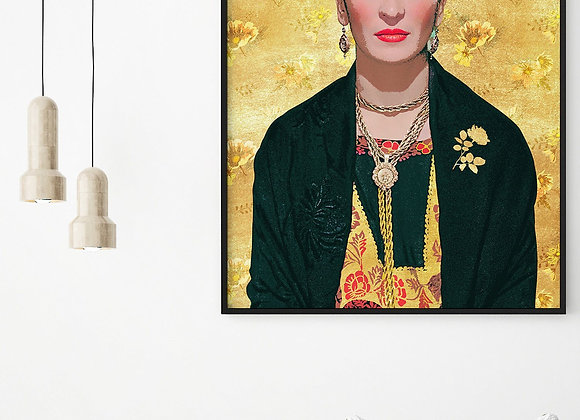 Stunning Frida Kahlo Gold Print