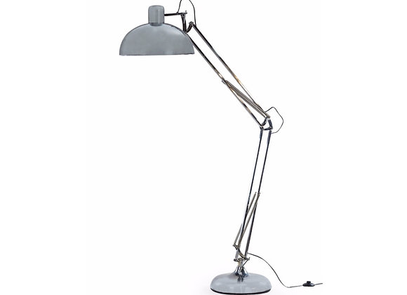 Quirky Large Chrome Finish Flex Floor Lamp With Yellow Wire