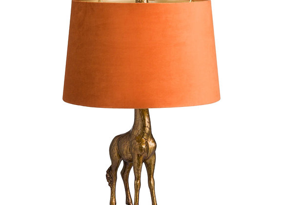 Quirky Giraffe Lamp With Burnt Orange Shade