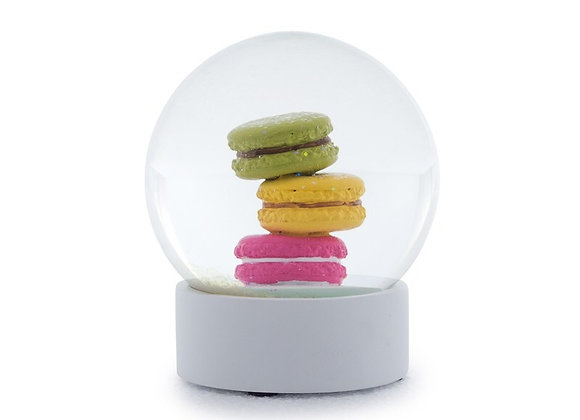Decorative Macarons Snow Globe