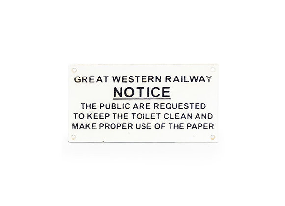 Cast Iron Great Western Rail Sign