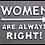 "Thumbnail: Cast Iron Humour ""Women Right"" Sign"