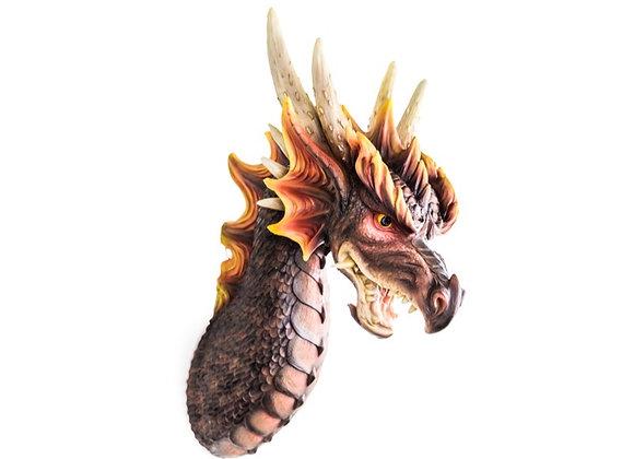 Fantastic Life-Like Dragon Head