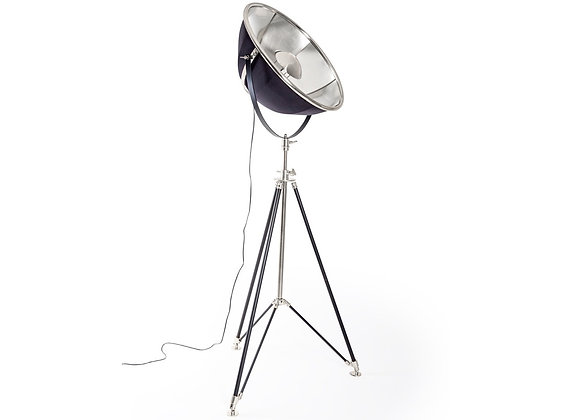 Quirky Black and Nickel Floor Lamp
