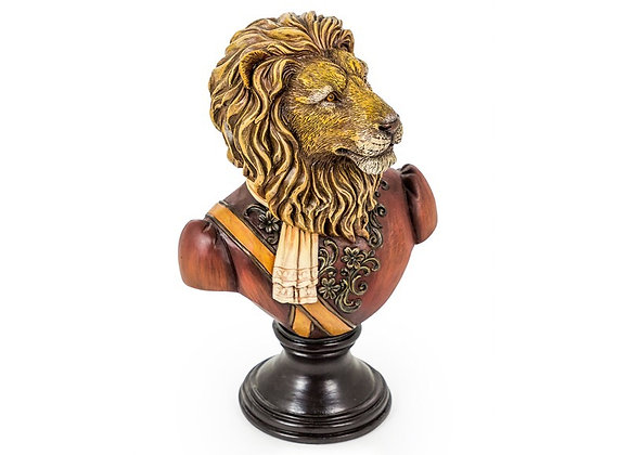 Regal Lion Bust Figure
