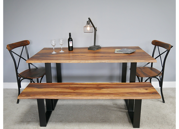 Beautiful Wooden Edge Dining Table