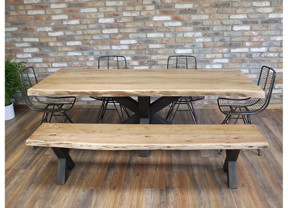 Stunning, Rustic Wooden Edge Table