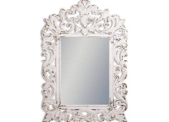 Large Decorative Wooden Framed Mirror