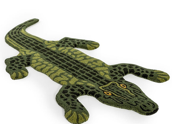 Fabulous Hand Tufted Alligator Woollen Rug