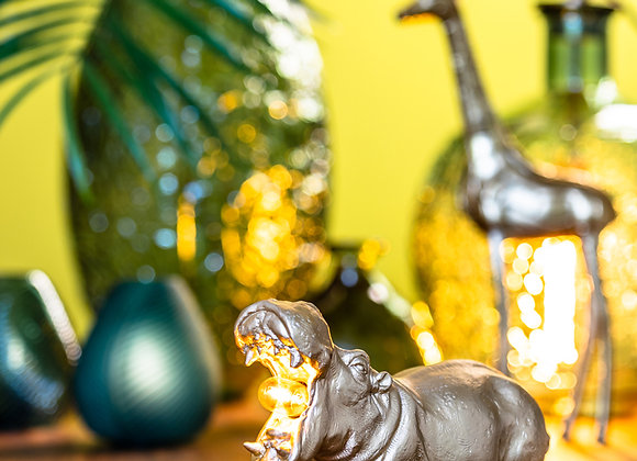 Quirky Small Gold Hippo Table Lamp