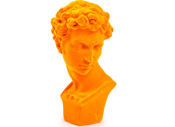 Bright Orange Flock Classic Bust Ornament