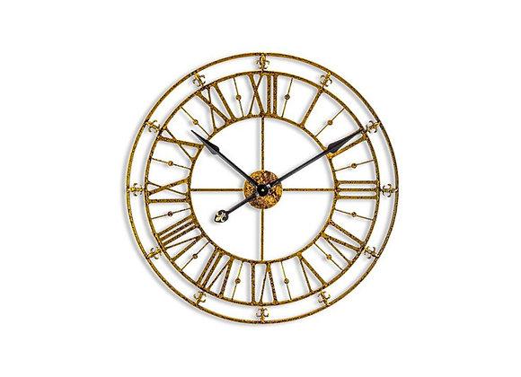 Medium Iron Skeleton Wall Clock Iron / Gold
