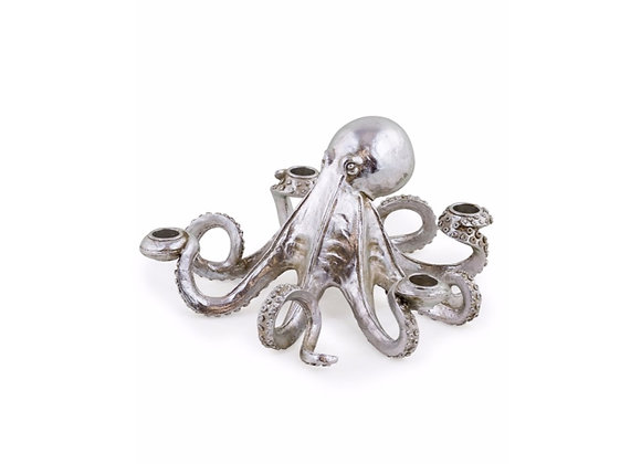 Octopus Candle Holder (Silver)