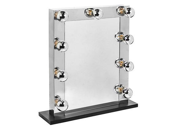 Large Chrome Hollywood Table Mirror
