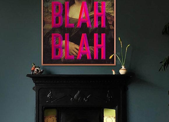 """Quirky, Bold """"Blah Blah Blah"""" Moaning Lisa Print"""