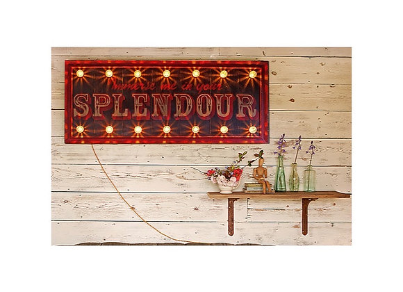 'Immerse Me In Your Splendour' Hand Painted Sign