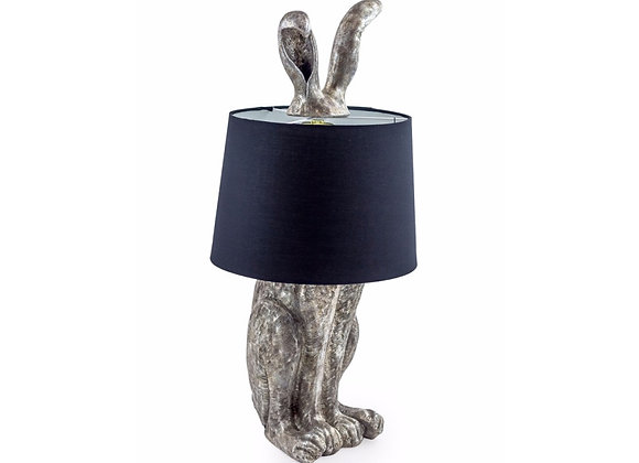Silver Rabbit Lamp With Black Shade