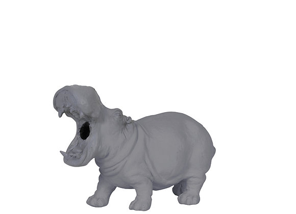 Funky Small Grey Hippo Table Lamp