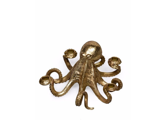Octopus Candle Holder (Gold)