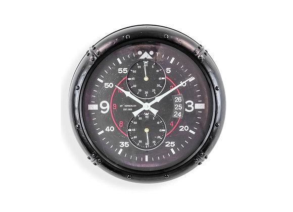 Black Framed Aviation Instrument Clock