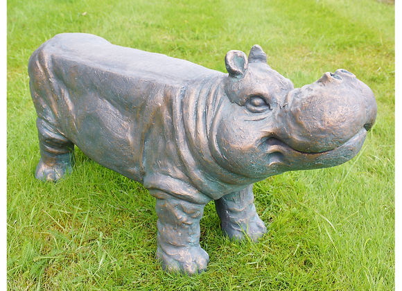Quirky Rustic Hippo Bench