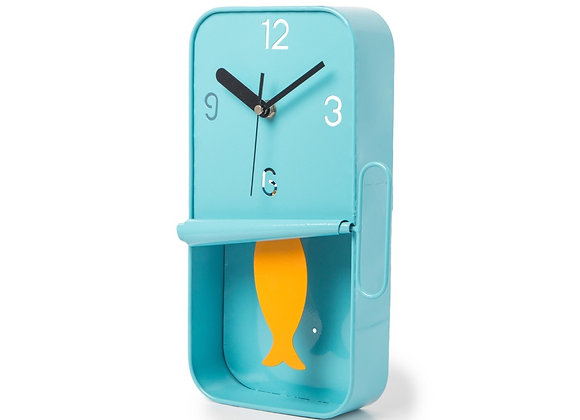 Sardine Tin Clock (Blue)