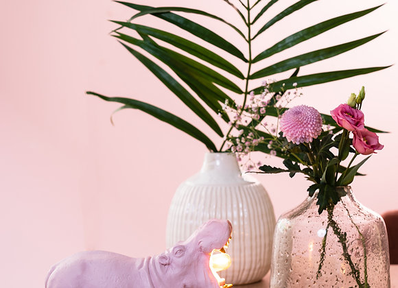 Quirky Small Pink Hippo Table Lamp