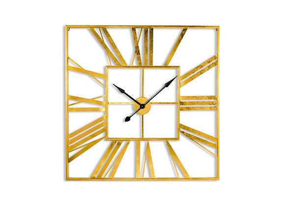 Quirky Square Skeleton Clock | Gold / Silver Wall Clock