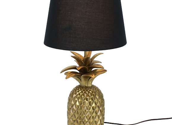 Funky Gold Pineapple Lamp with Black Shade
