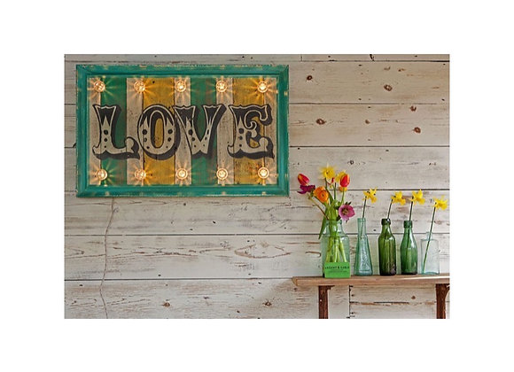 'Love' Hand Painted Sign