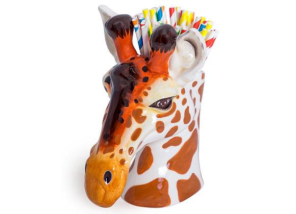 Quirky Ceramic Giraffe Head Storage Jar / Vase