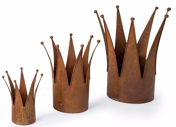 Quirky Set of 3 Crown Planters