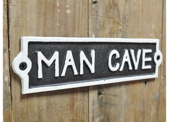 "Cast Iron Humour ""Man Cave"" Sign"