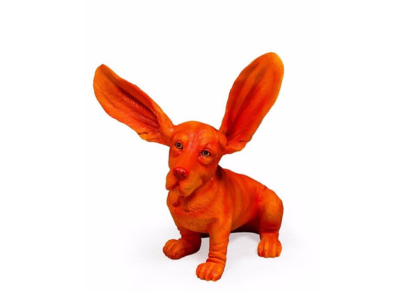 Automatic Orange Basset Hound Figure