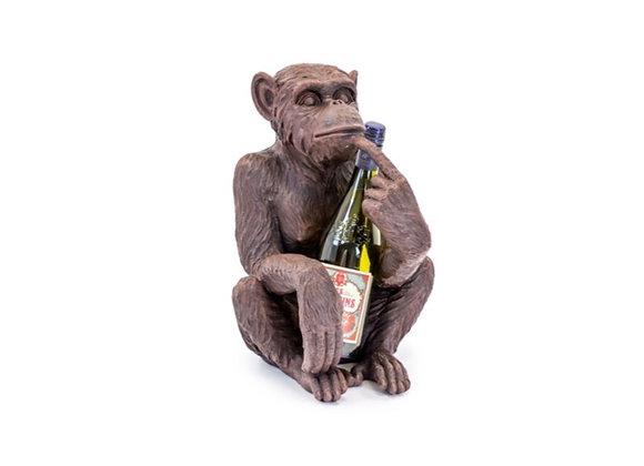 Quirky Wise Monkey Wine Bottle Holder (Bronze)