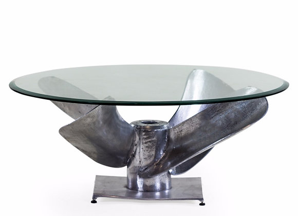 Propeller Glass Top Coffee Table