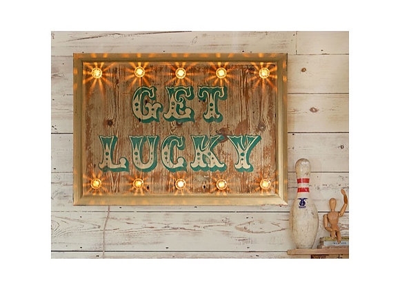 'Get Lucky' Hand Painted Sign